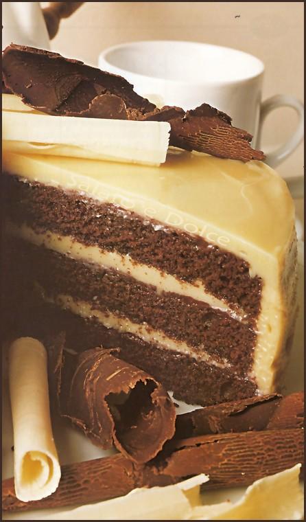 Torta al cioccolato bianco salato e dolce ricette in cucina per tutti i gusti - Bagno per torte senza liquore ...